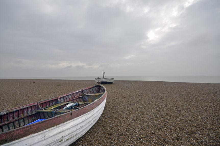 Boats on the sea shore