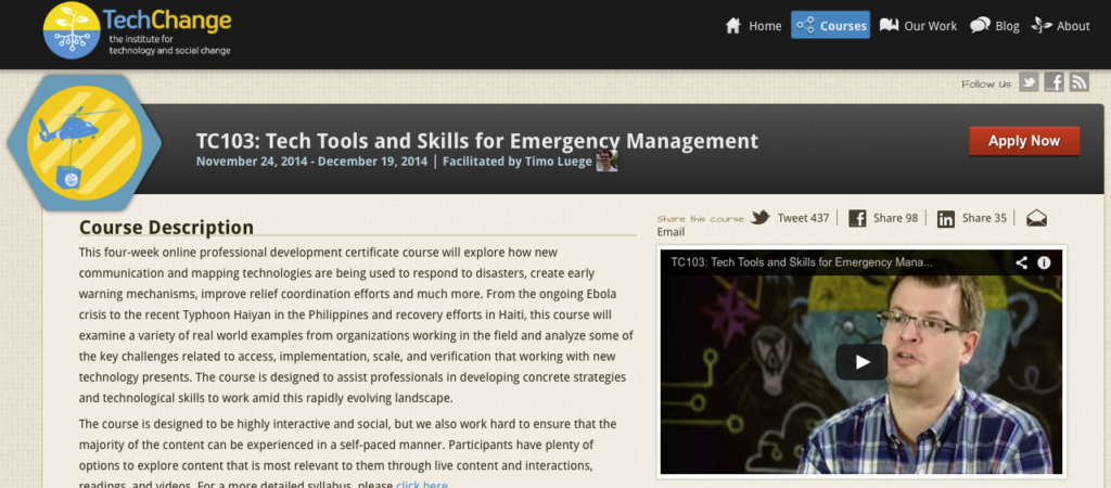 TC103-Tech tools and skills for emergency management-screenshot