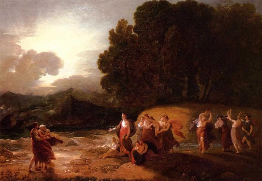 Benjamin West, Calypso's Reception of Telemachus and Mentor (Daniel Reinberg/flickr.com)